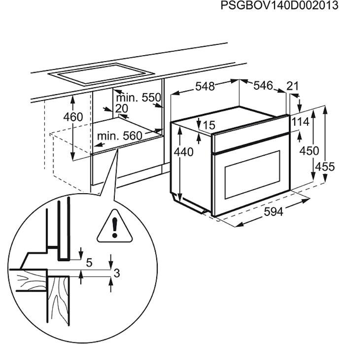 Electrolux - Kompaktugn - EVY9847AAX