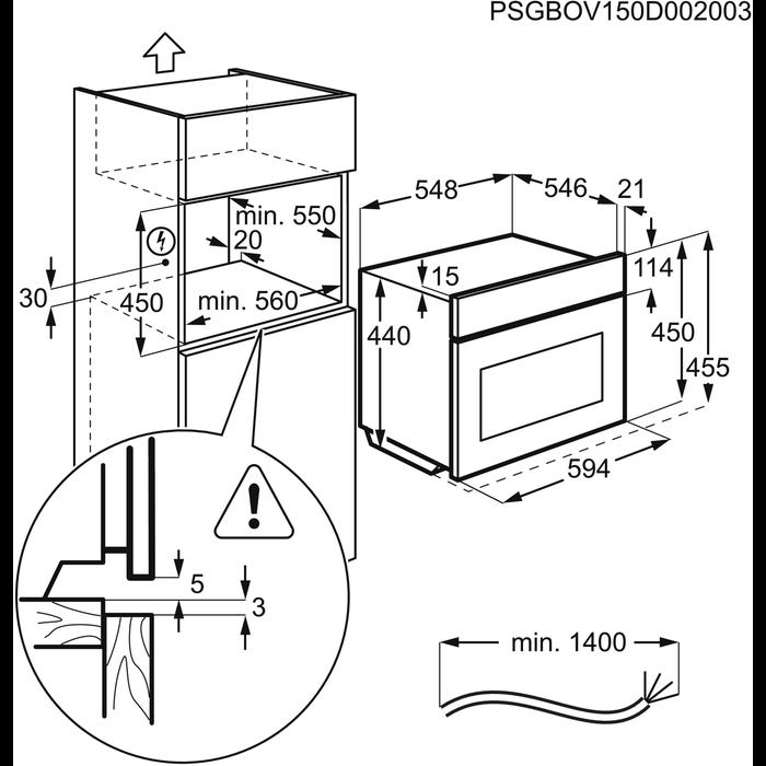 Electrolux - Kompaktovn - Built-in - OCB450NX
