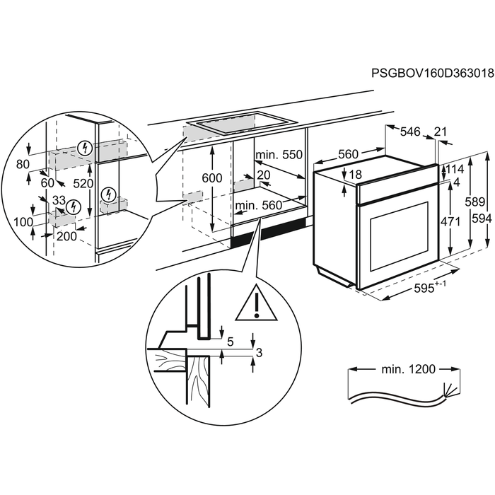 Electrolux - Ovn - OOC550NV
