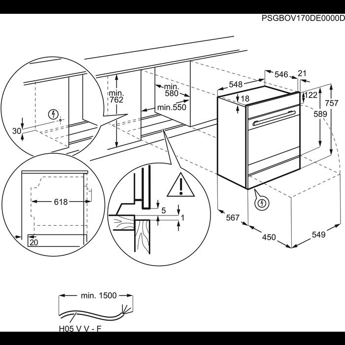 Electrolux - Elektroherd - EHL2SW