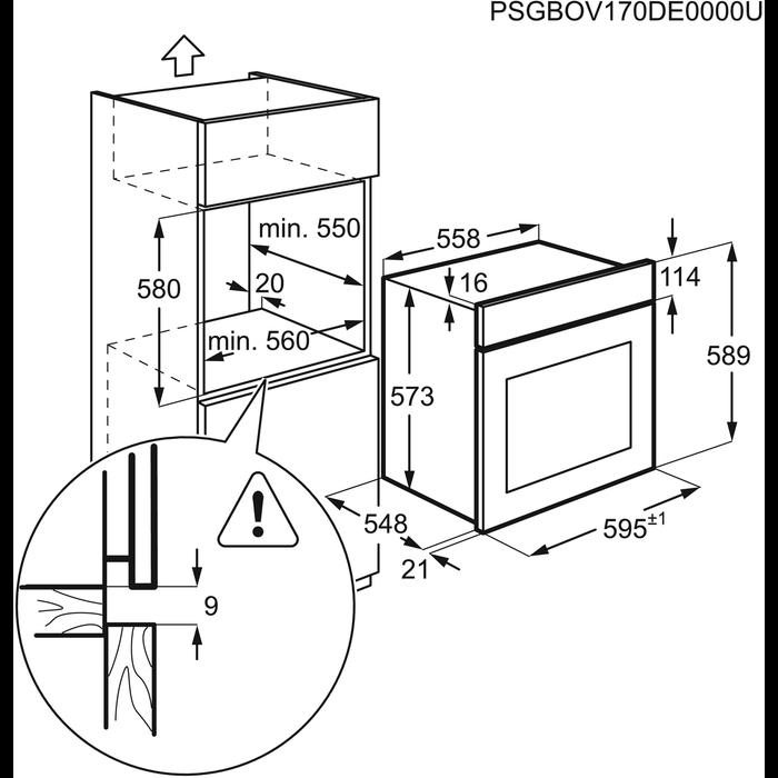 Zanussi - Electric Oven - ZOA35972BK