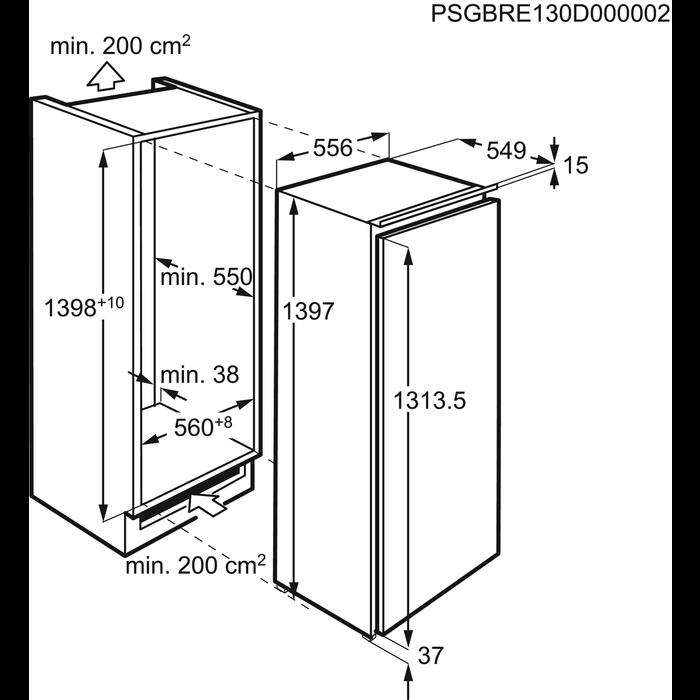 AEG - Einbau Kühlschränke - SKE81436ZC