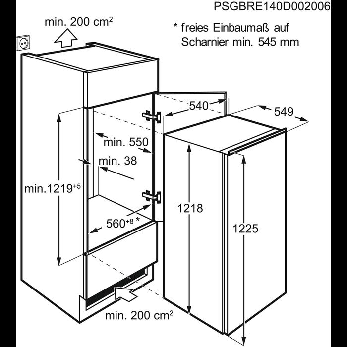 Electrolux - Montuojamas šaldytuvas - Montuojama - ERN2001FOW