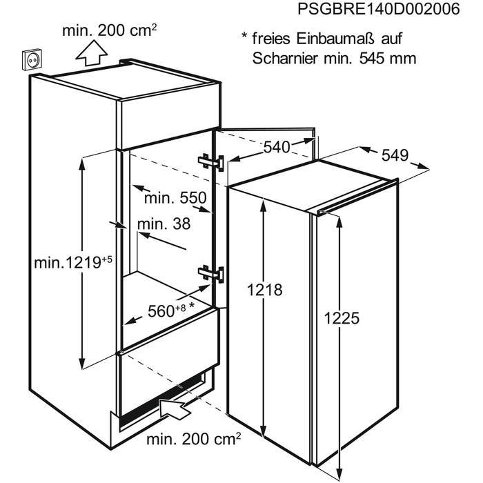Zanussi - Встроенный холодильник - ZBA22421SA
