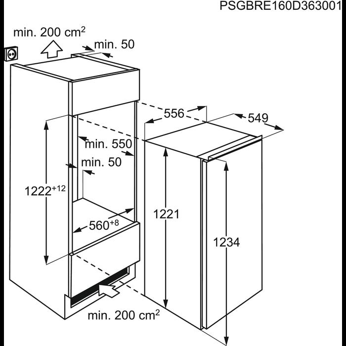AEG - Frigorífico de integración - SKZ81200F0