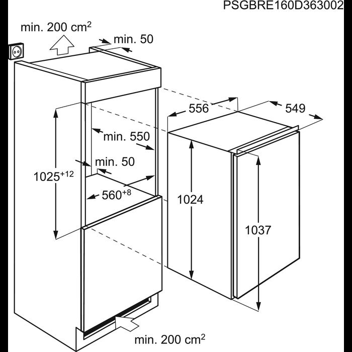 AEG - Inbouw koelkast - SFE81021AF