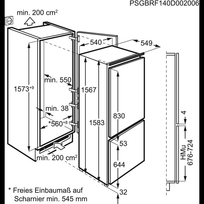 AEG - Einbau Kühl/Gefrierkombination - SCB41611LS