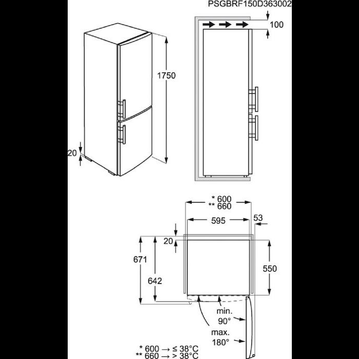 Electrolux - Fristående kyl frys - Fristående - EN3209MFW
