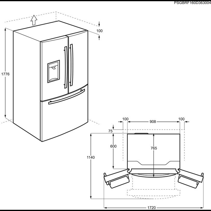 Electrolux - Wolnostojąca chłodziarko-zamrażarka - EN6084JOX