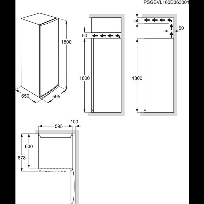 AEG - Jääkaappi - Vapaasti sijoitettava - S93880KMX3