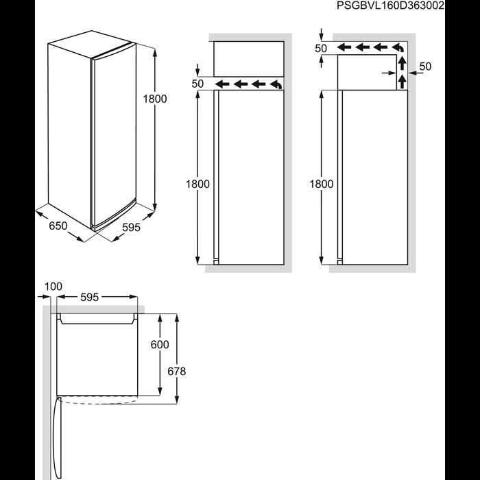 Electrolux - Arca vertical - EUF2949GOX