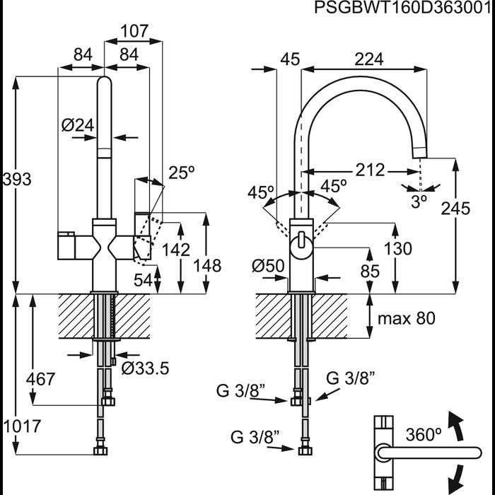 AEG - Boiling water tap - GYT11012SB