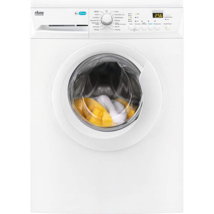 Faure - Lave-linge chargement frontal - FWF8125PW