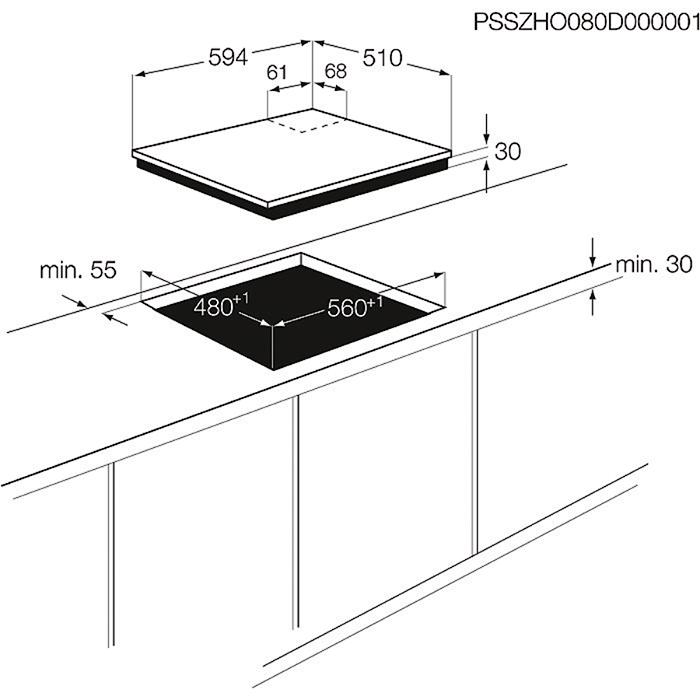 Zanussi - Газовая варочная панель - ZGG66414XA