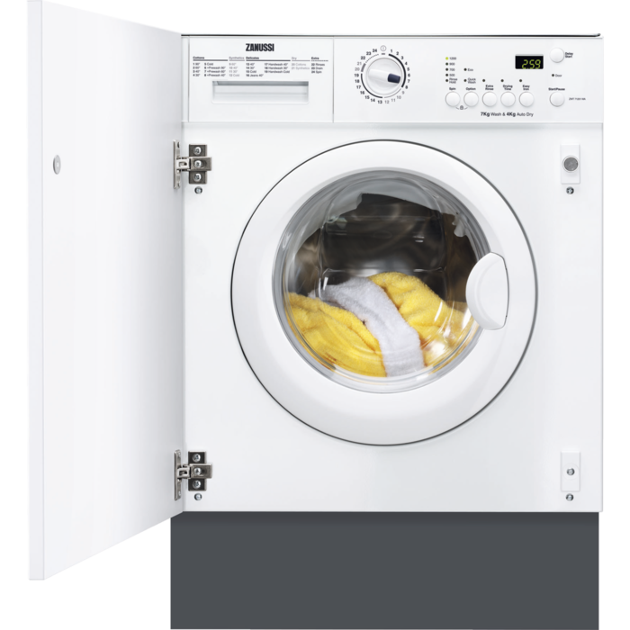 Zanussi - Integrated washer dryer - ZWT71201WA