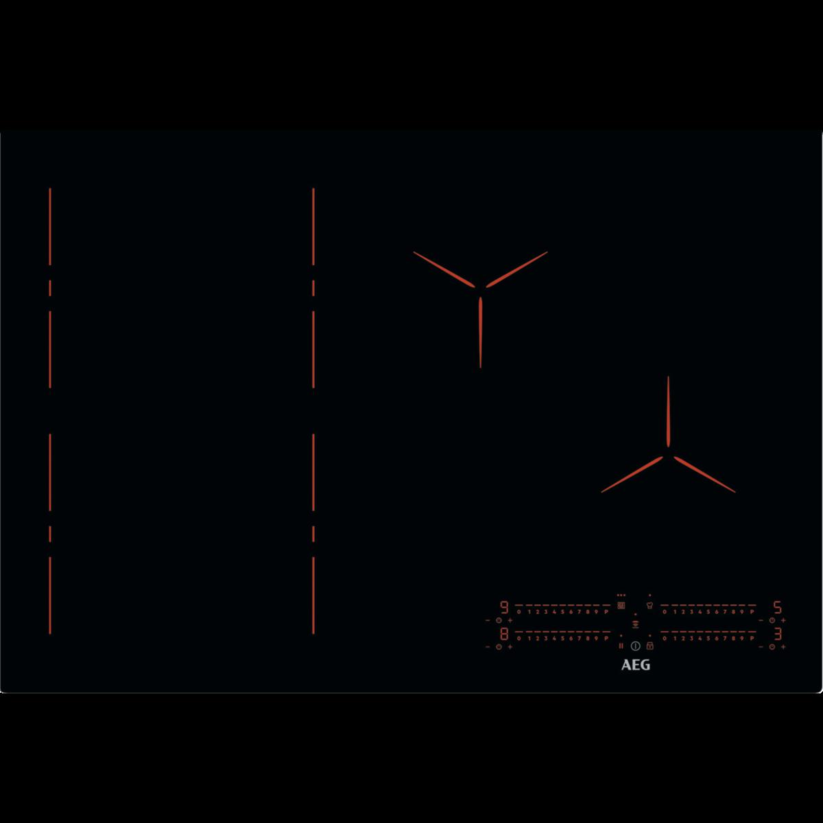 INDUKTIONS-KOCHFELD MIT FLEXIBRIDGE
