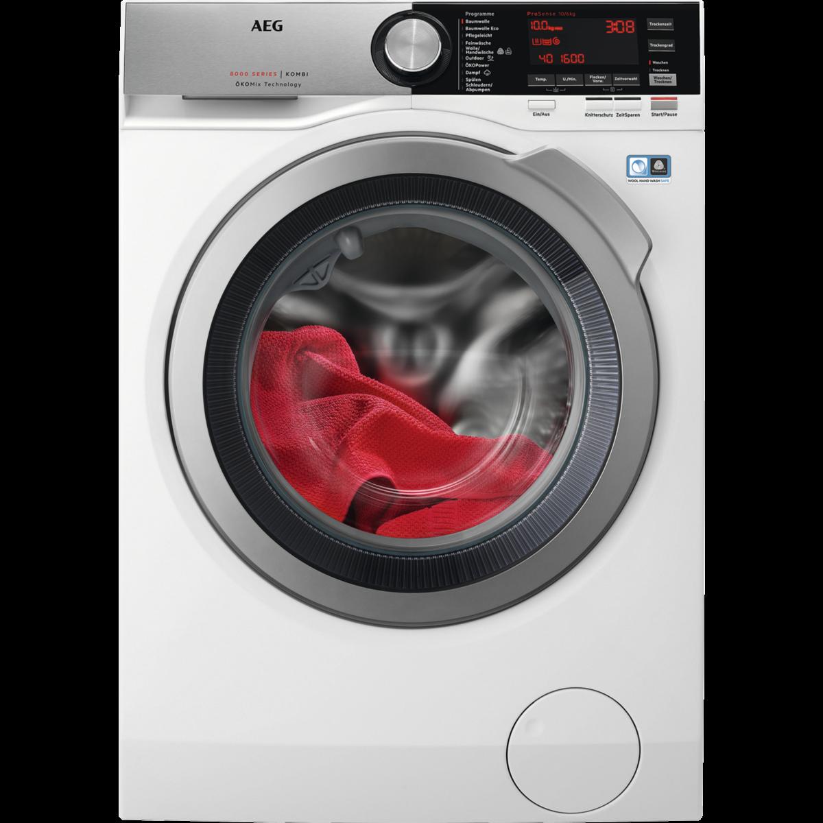 Waschtrockner mit ÖkoMix Technologie