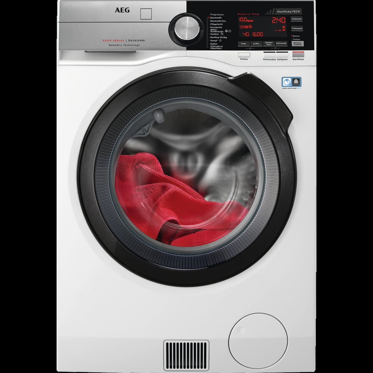 Waschtrockner mit SensiDry Technologie