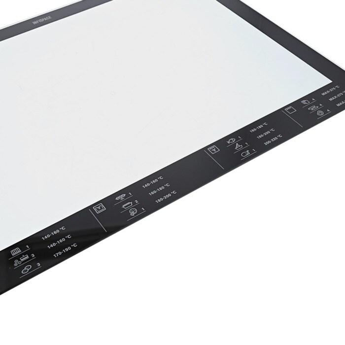 Vitre int rieure imprim e haute temp rature 524 x 402 mm pour cuisini res fours tables de - Vitre pour porte interieure ...