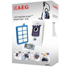 AUSK9 UltraSilencer Vacuum Cleaner Starter Kit with 4 s-bag® Classic Long Performance