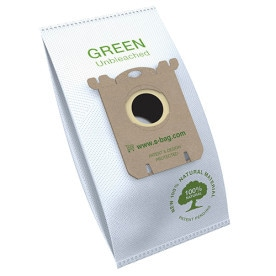 E212B s-bag® Green Vacuum Cleaner Bags, 3 bags